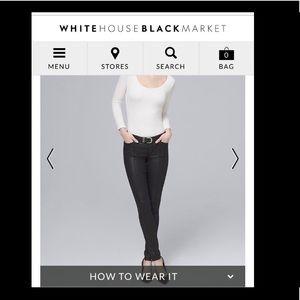 White House Black Market Pants. Shiny exterior.